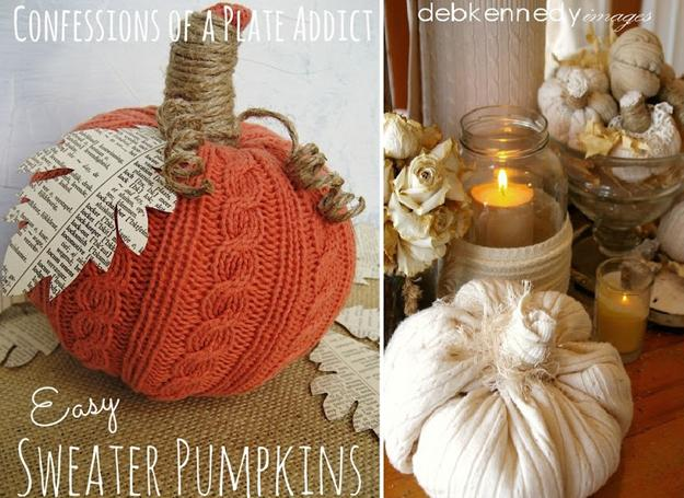 Best Bike Lights >> Recycling Old Clothes and Fabrics for Handmade Pumpkins ...