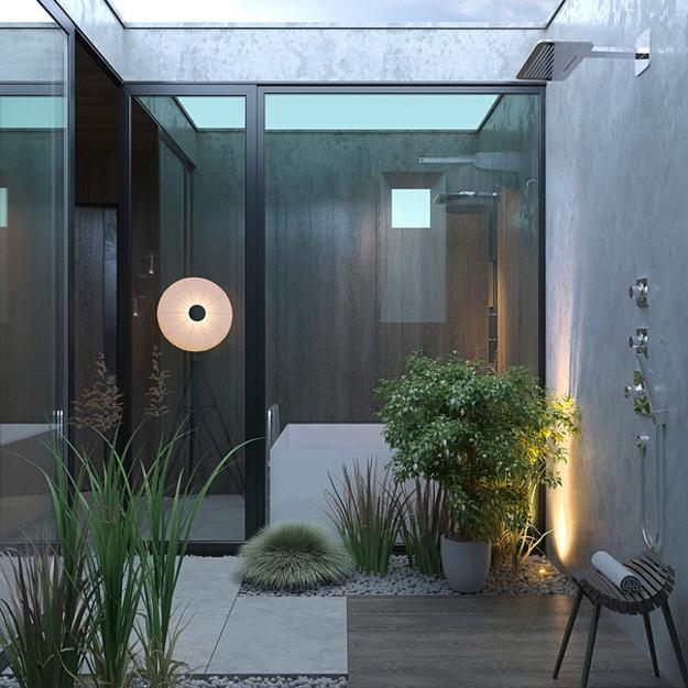 eco-bathroom-design-trends-2 Zen Bathroom Interior Design on bathroom with black accents, powder room interior design, modern bathroom interior design,