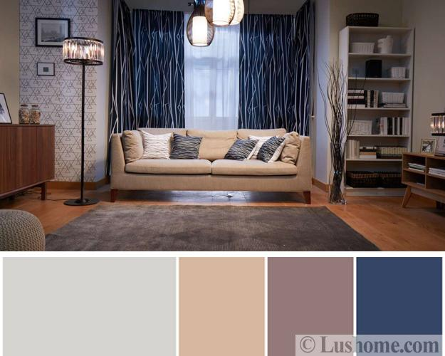 Stylish Fresh Color Design Ideas For Modern Living Rooms