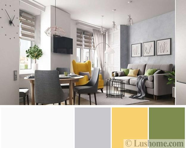 Stylish Fresh Color Design Ideas For Modern Living Rooms 15