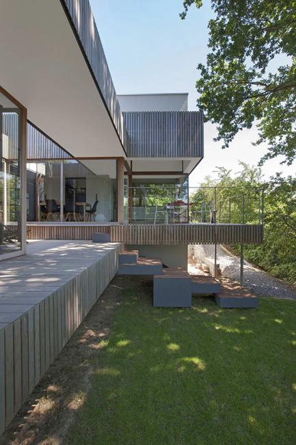 Modern House Featuring Original Wood Terraces And Minimalist