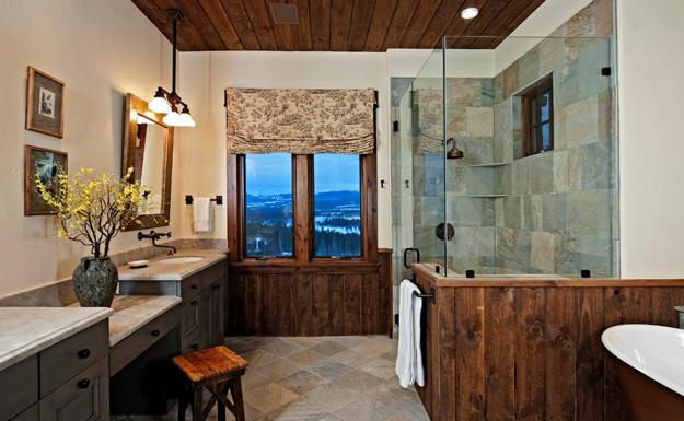 How To Use Wood and Stone for Charming Rustic Bathroom Design