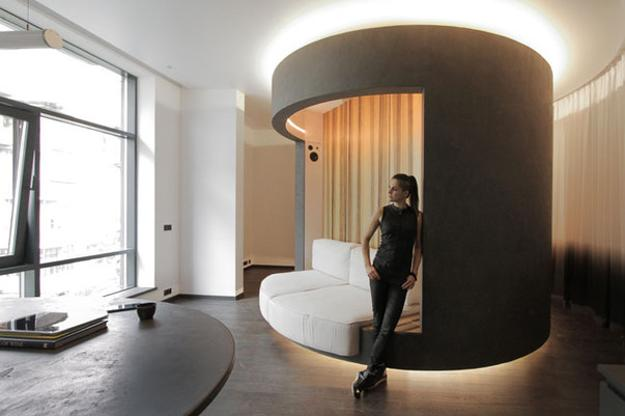 Space Saving Rotating Bedroom Design Innovative Small Apartment Ideas