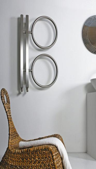 contemporary towel rack