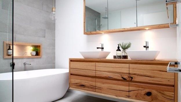 25 Modern Ideas To Transform Bathroom Design With Wood Elements