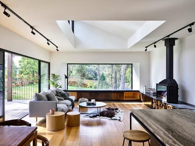 Comfortable Living Room Design, Ballarat East House In Australia, Porter  Architects
