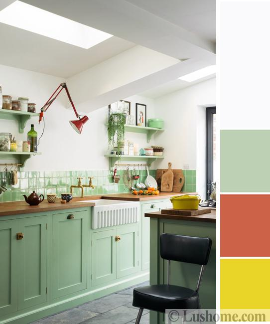 Light Green Kitchen: 15 Interior Design Color Schemes Offering Stylish Color