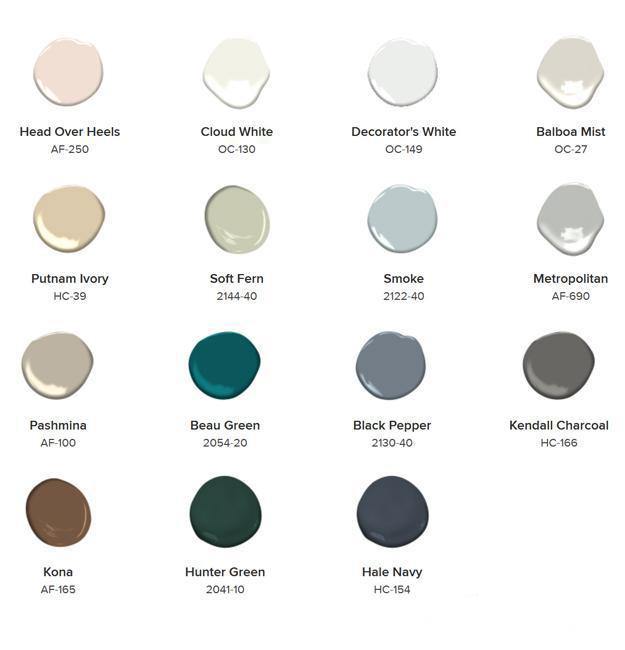 11 Pastel Paint Colors: Adaptable Soft Pastels, Paint Color Trends 2019 From Benjamin Moore