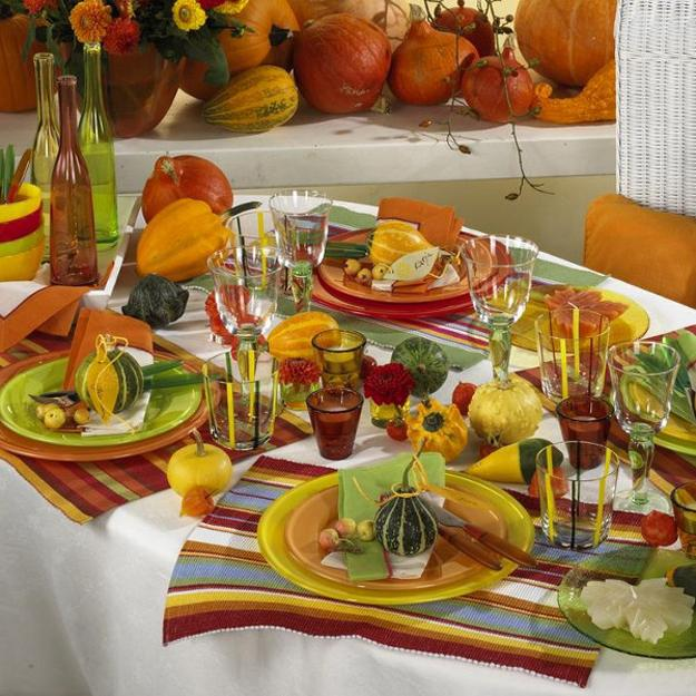 fall holiday tables