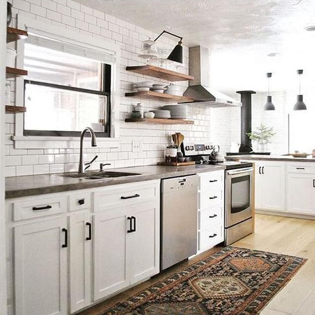 Modern Wooden Kitchen Designs: Beautiful Wooden Shelves In Modern Kitchens, Simplified