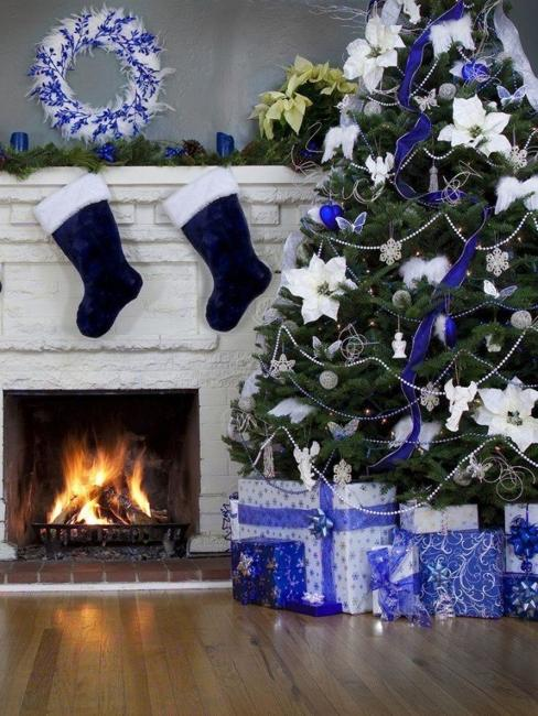 Diy Tree: Blue And White Christmas Colors, Elegant Cool Color