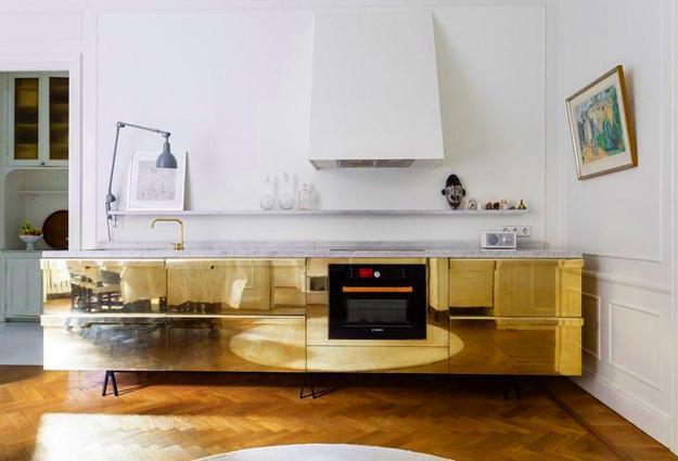 Golden Kitchen Cabinets And Backsplash Ideas Giving