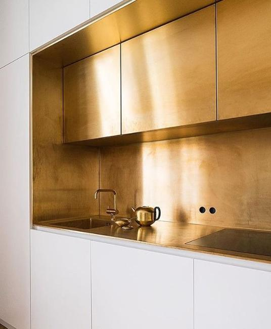 Golden Kitchen Cabinets And Backsplash Ideas Giving