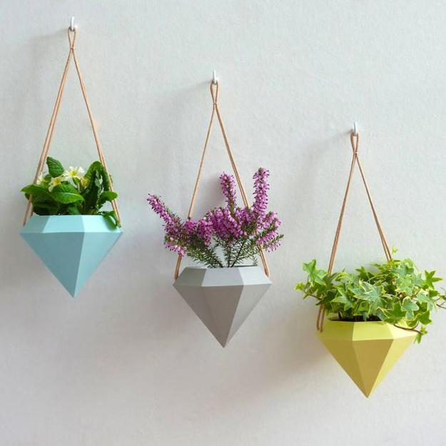 wall planters geometric design
