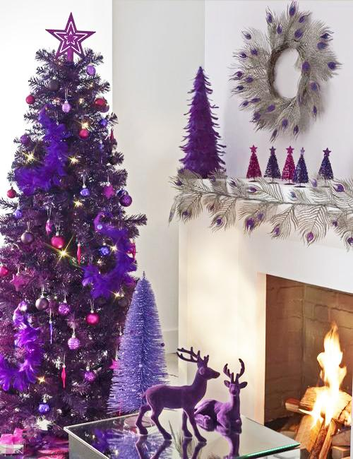 Deep Purple Christmas Colors, 25 Ways to Add Ultra Violet ...