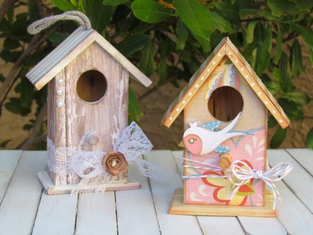 Colorful Painting Ideas For Handmade Birdhouses Fun Yard Decorations And Unique Eco Gifts