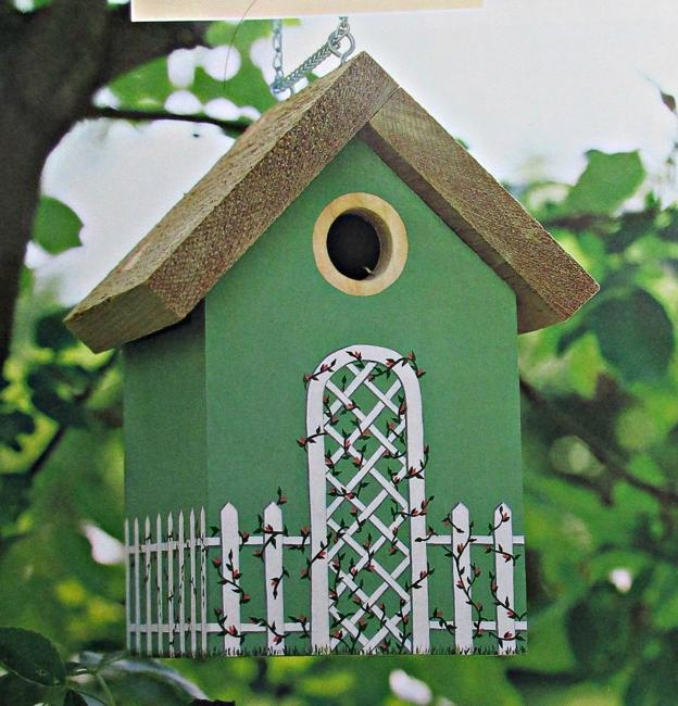 Home Design Ecological Ideas: Colorful Painting Ideas For Handmade Birdhouses, Fun Yard