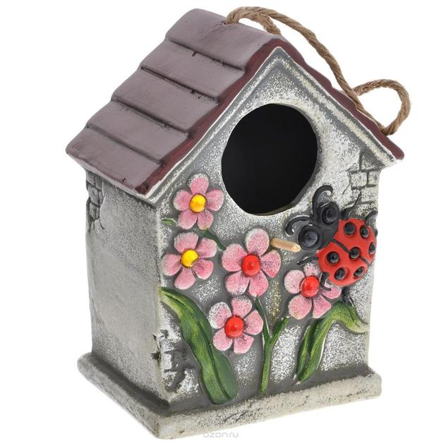 Home Design Gift Ideas: Colorful Painting Ideas For Handmade Birdhouses, Fun Yard