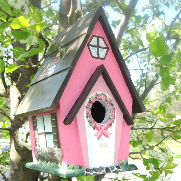 Colorful Painting Ideas For Handmade Birdhouses, Fun Yard