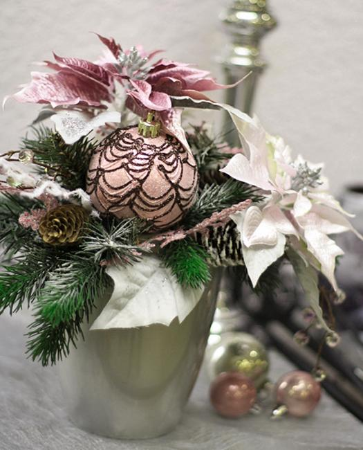 floral christmas table centerpiece