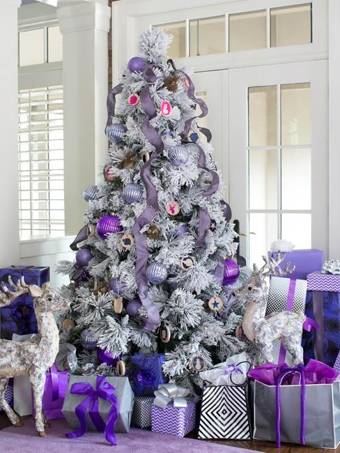 Purple And Blue Christmas Tree Decorations  from www.lushome.com