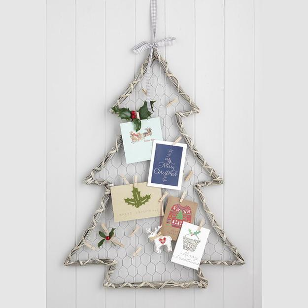 alternative christmas trees for wall decoration