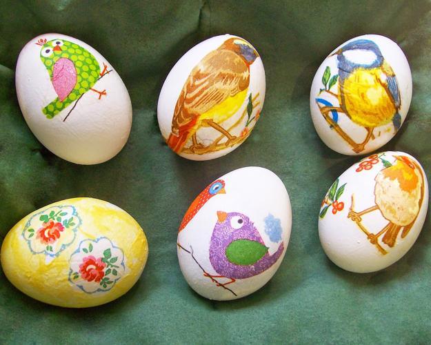 decoupage eggs decoration  creative easter ideas