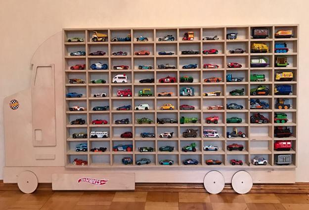 Kids Room Organization Shelves