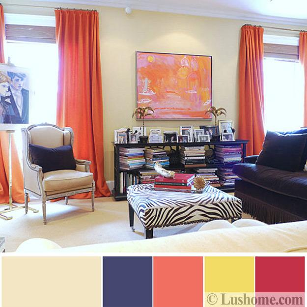 Blue Color Schemes Enhancing Modern Bedroom Decorating: Modern Coral Pink Color Schemes, Ready To Use Color