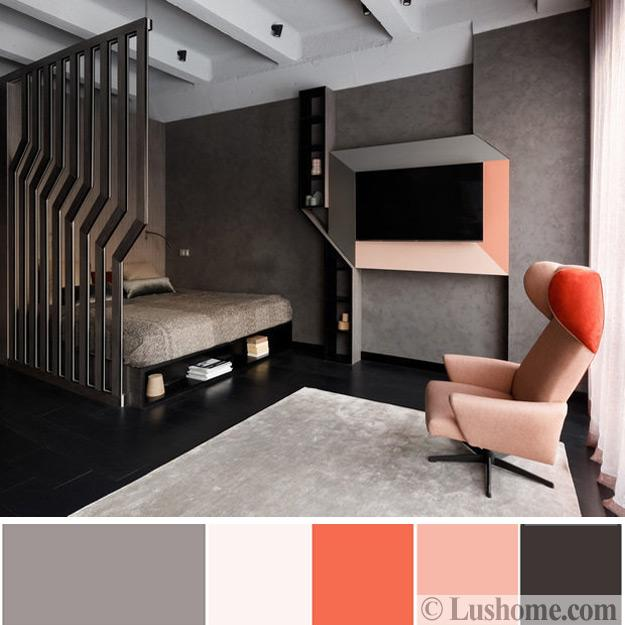 Modern Coral Pink Color Schemes, Ready To Use Color Combinations For Room Decorating