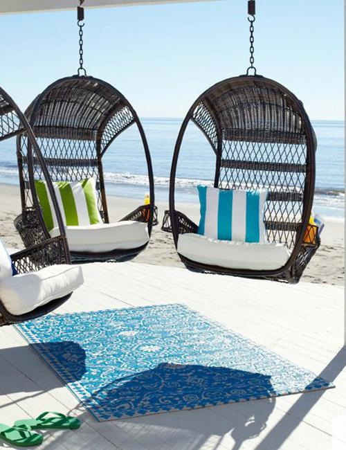 outdoor furniture hanging chairs