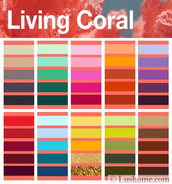 Modern Coral Pink Color Schemes, Ready to Use Color ...
