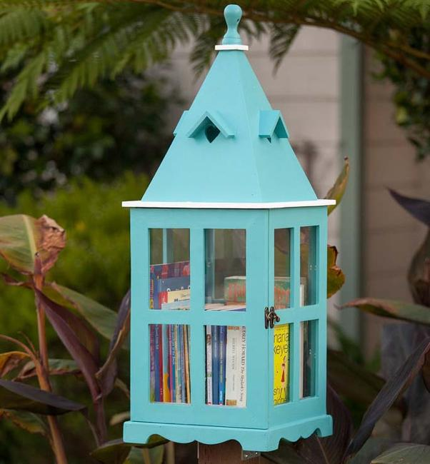 Green Home Design Ideas: Cute Little Free Library Design Ideas, Recycling For Gifts