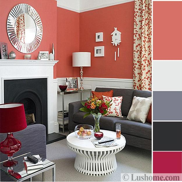Modern Coral Pink Color Schemes Ready To Use Color Combinations For Room Decorating
