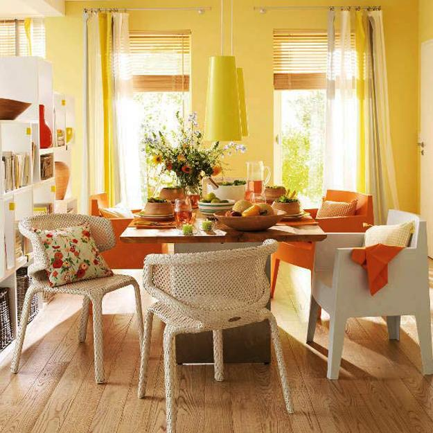 Beautiful Gorgeous Modern Garden Concept Idea With Bright: Bright Accents In Room Decorating, Secrets Of Creating