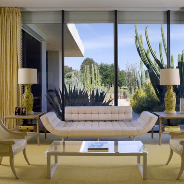 yellow colors in modern living room designs