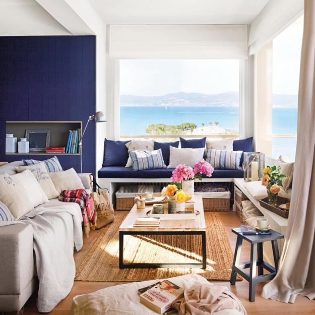 Modern Living Rooms With Mediterranean Sea Views And