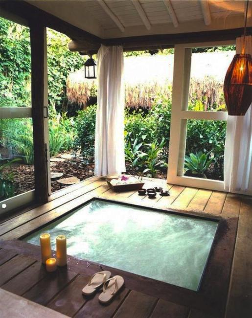 Beautiful Outdoor Bathroom Design Charming And Soothing