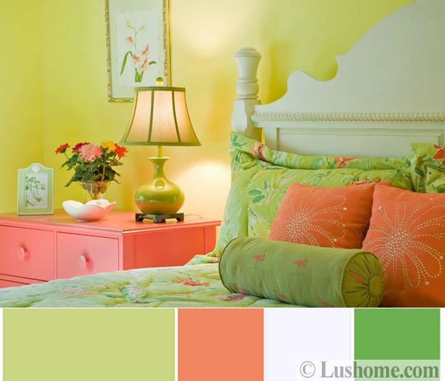 Kids Rooms Climbing Walls And Contemporary Schemes: Modern Coral Pink Color Schemes, Ready To Use Color