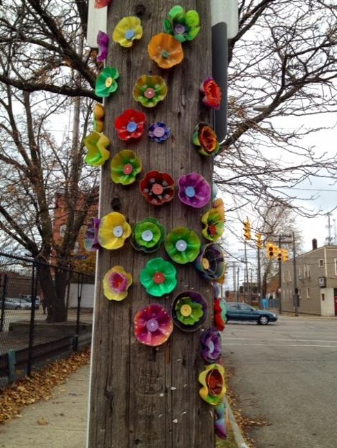 plastic recycling for flower designs