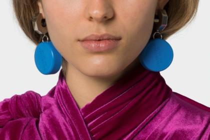 Recycled bottle top earrings
