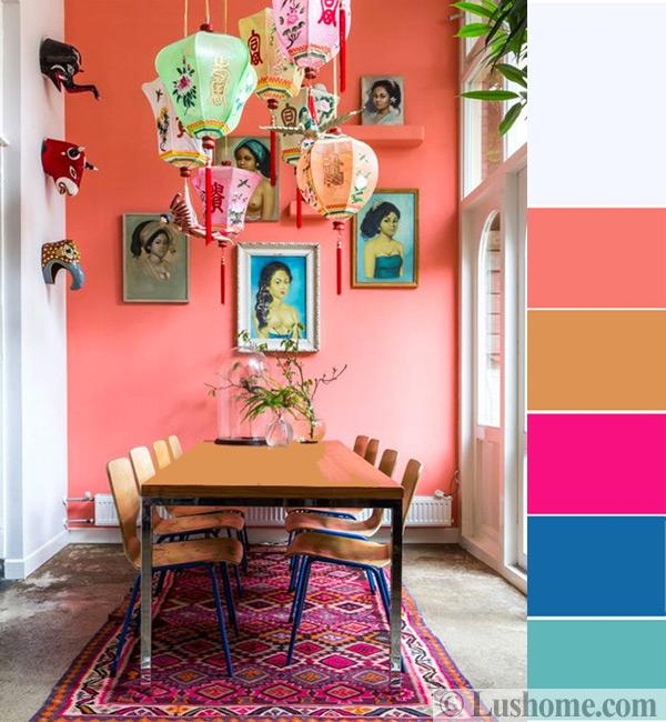 Modern Coral Pink Color Schemes, Ready To Use Color