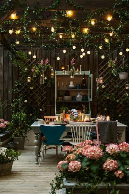 patio ideas outdoor lights
