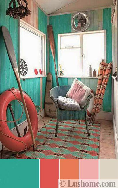 Living Room Rug Ideas: Modern Coral Pink Color Schemes, Ready To Use Color
