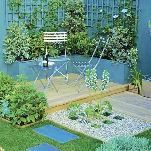 Beautiful Gorgeous Modern Garden Concept Idea With Bright: Practical Decorating Ideas For Small Wooden Decks, Outdoor