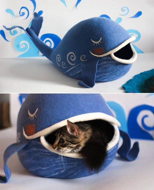 beautiful cat bed design with felt