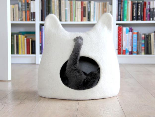 Creative Pet Design Ideas Handmade Wool Felt Cat Beds On Etsy