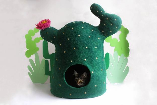 Creative Pet Design Ideas Handmade Wool Felt Cat Beds On Etsy