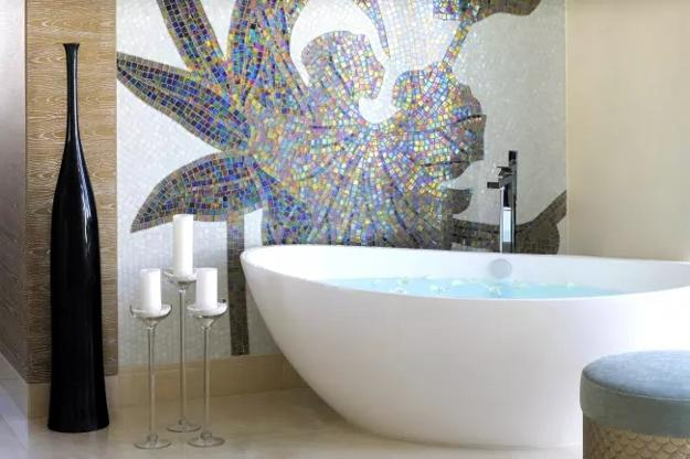 Modern Bathroom Tile Designs Colorful Ideas Blending