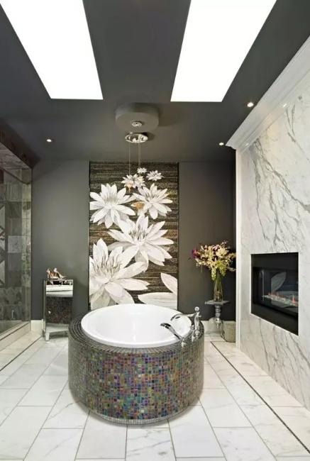 dark-ceiling-designs-black-white-bathroom-6-1 Paint Design Ideas For Bathrooms on wall color interior ideas, modern bathroom shower design ideas, bathroom colors, cool bathroom paint ideas, bathroom paint print ideas, painted bath vanity ideas, bathroom paint trends, bathroom drywall design ideas, small bathroom paint ideas, wood stain design ideas, bathroom decor ideas, small bathroom with shower ideas, bathroom paint pattern ideas, bathroom decorating design ideas, bathroom backsplash design ideas, restroom paint ideas, bathroom paint projects, yellow bathroom ideas, bedroom warm interior design ideas, bedroom paint ideas,